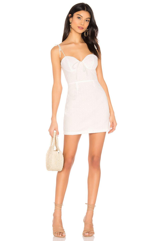 Superdown Anabelle Tie Strap Dress In White White Dresses Graduation Tie Strap Dress Fashion Clothes Women [ 1450 x 960 Pixel ]