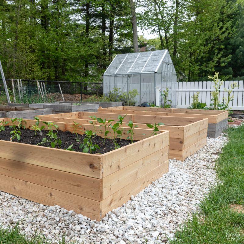 DIY Cedar Cube Solar Landscape Lights Building a raised
