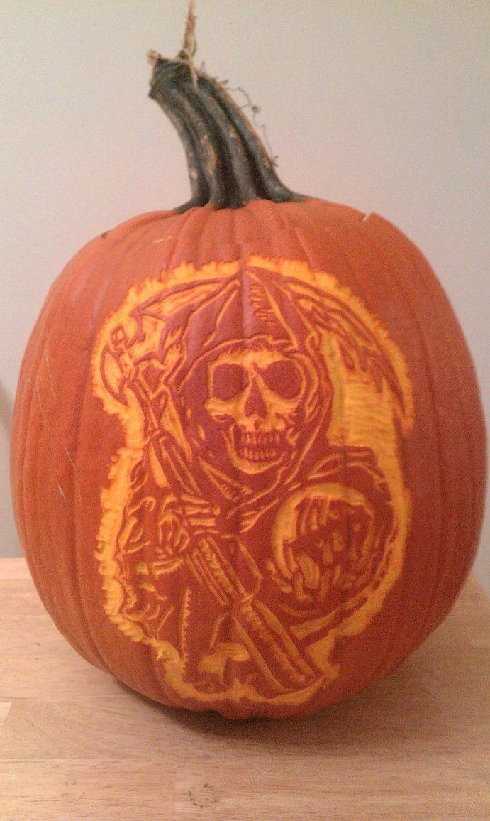 Sons Of Anarchy Took Him 5 Hours Pumpkin Carving Ideas Sons