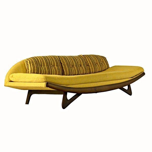 Adrian Pearsall Walnut Lounge Sofa for Craft Associates 1950s