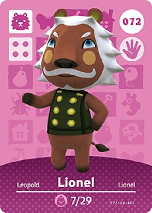 Nintendo Animal Crossing Happy Home Design Lionel Amiibo
