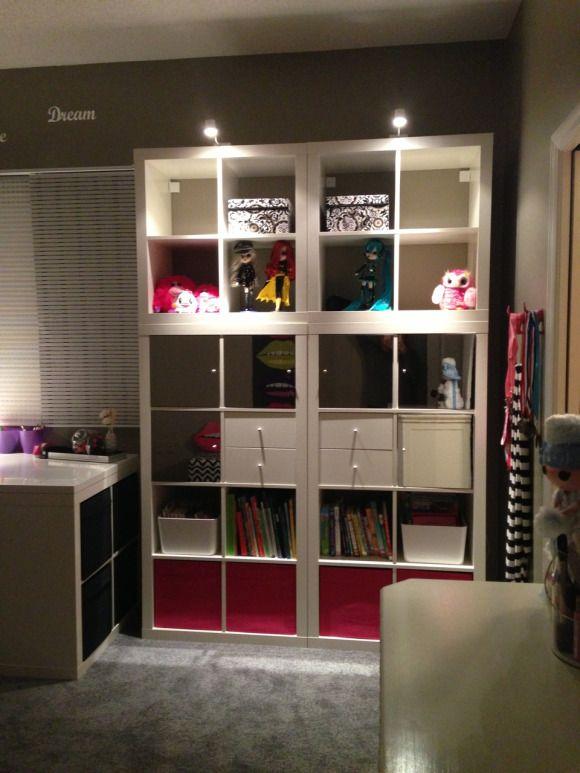 Ikea Self Hanging Sliding Curtains Ikea Expedite Bookshelves With Mirrored Doors Cubby Bins