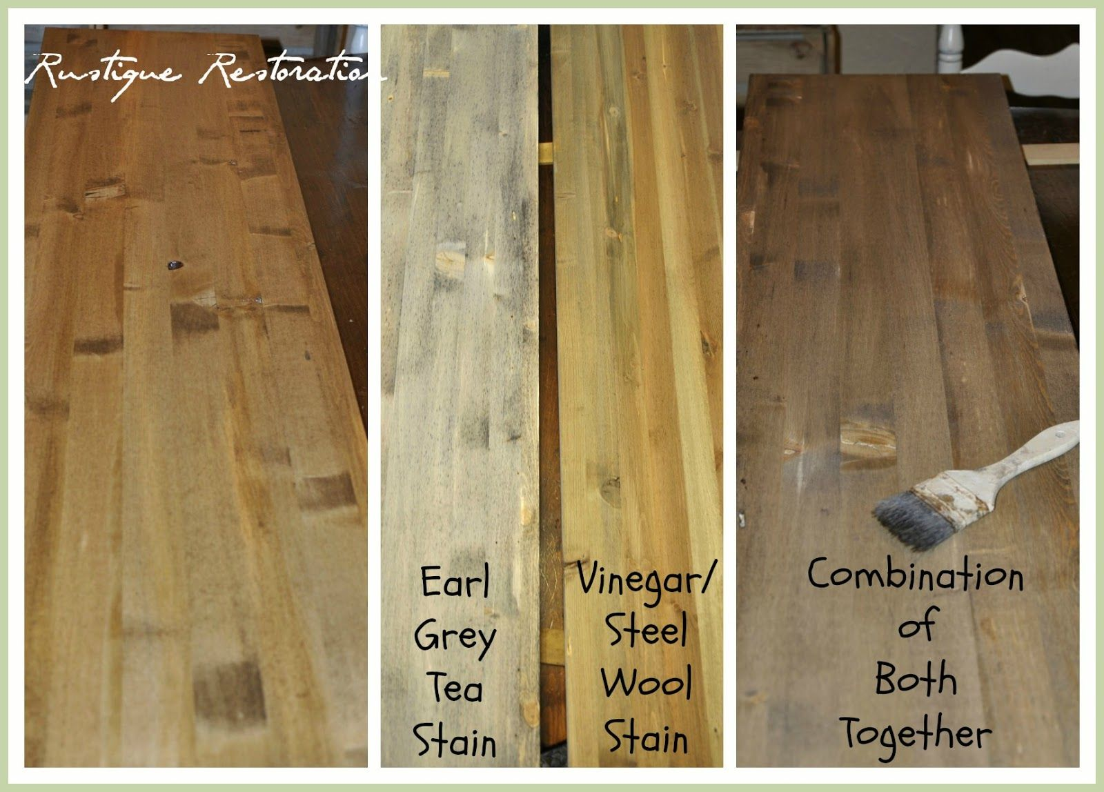 Homemade Stain To Get The Barn Wood Look