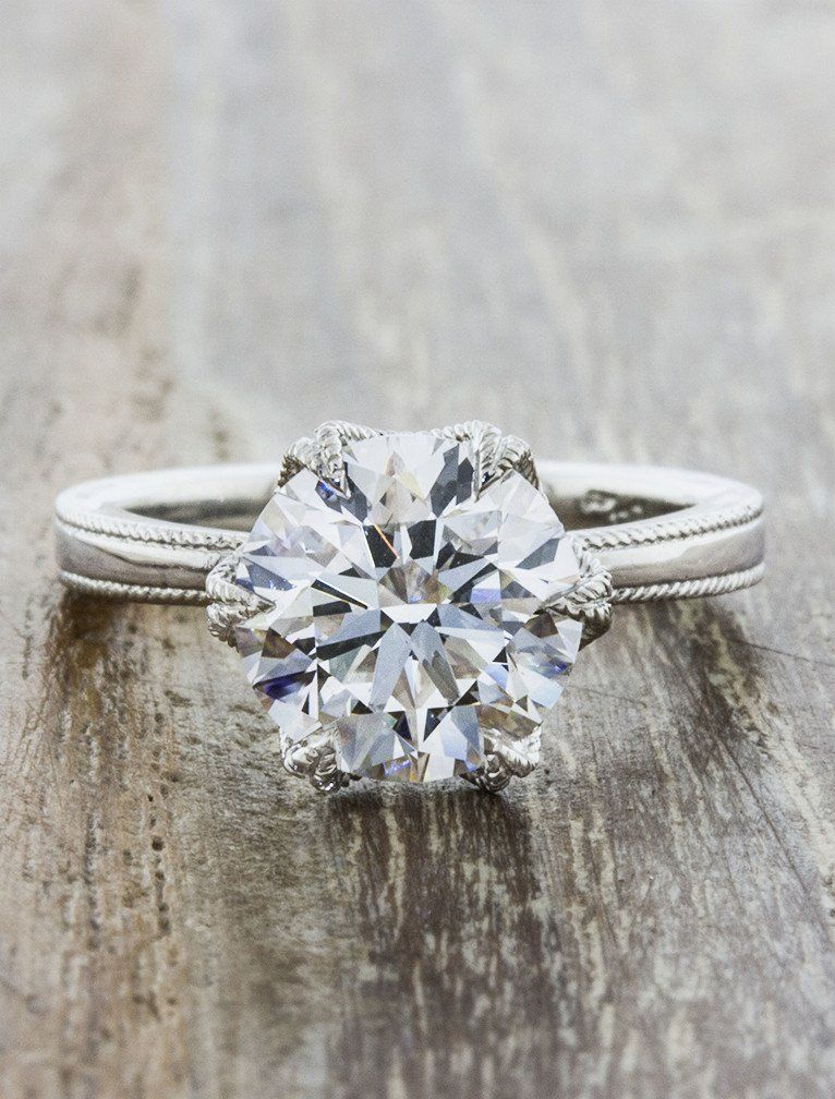 Roxana classic engagement ring solitaire vintage