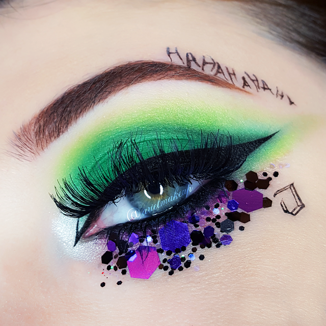 Ariel Make Up Make Up Beauty With A Princess Touch Halloween 2017 The Joker Feat Glitter Palace Joker Makeup Eye Makeup Creative Makeup Looks