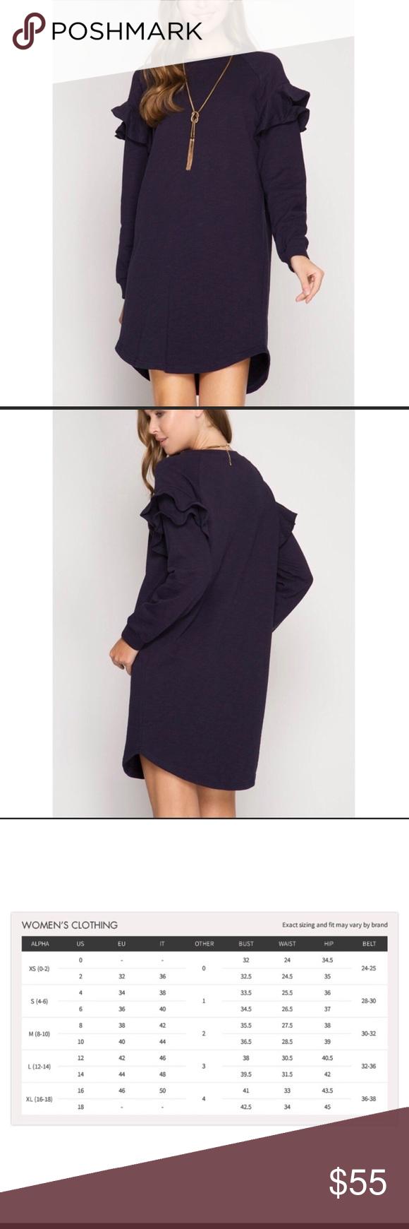 We salelong sleeve dress wruffle shoulder boutique my posh