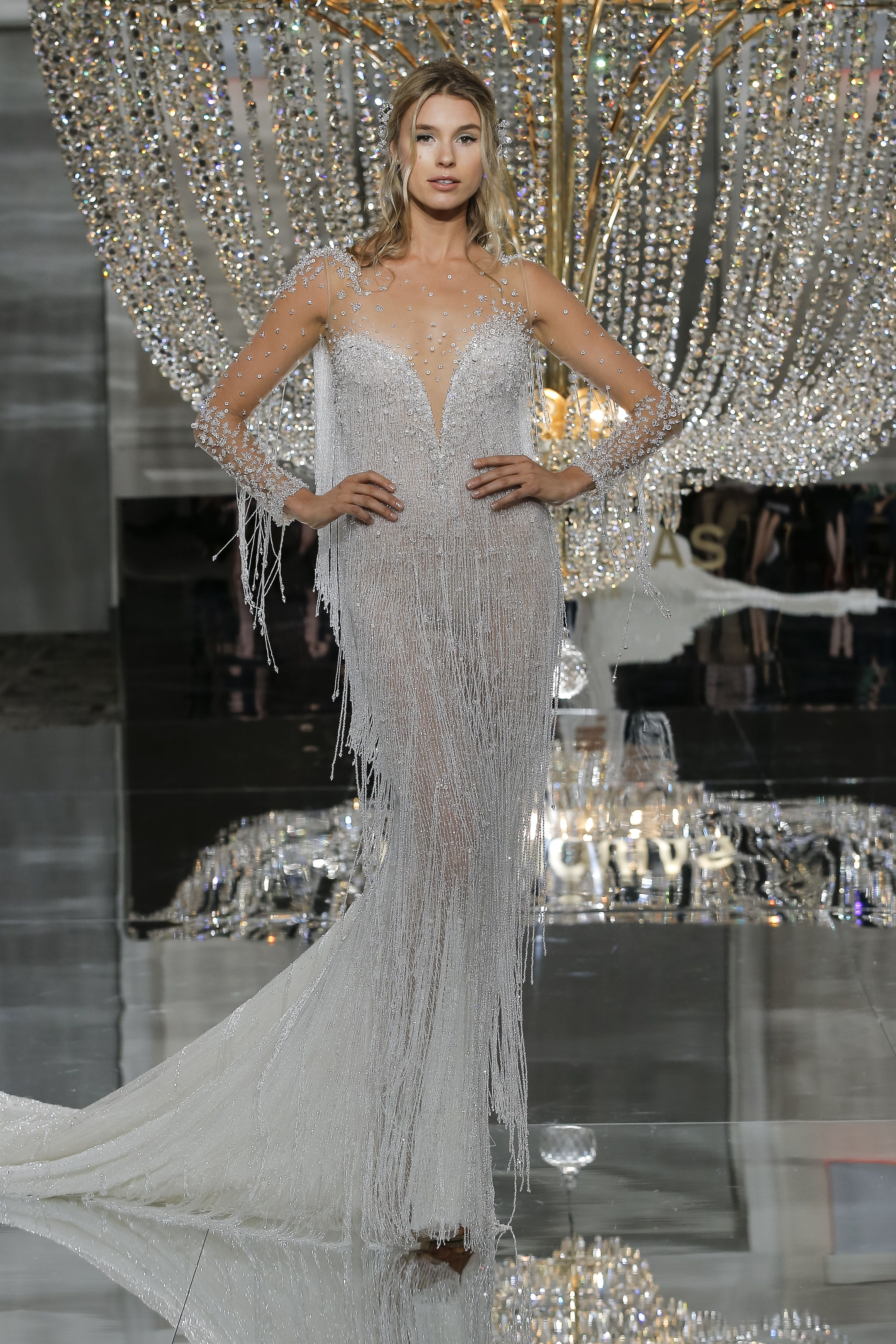 RIVA dress from ATELIER PRONOVIAS | NYC SHOW 2018 COLLECTION | Pinterest