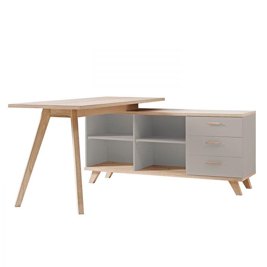 Schreibtisch L Form Eiche