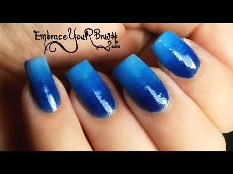 Perfect Gradient Nail Art in 1 Minute Tutorial! #NailArt #Gradient #Ombre #Blue