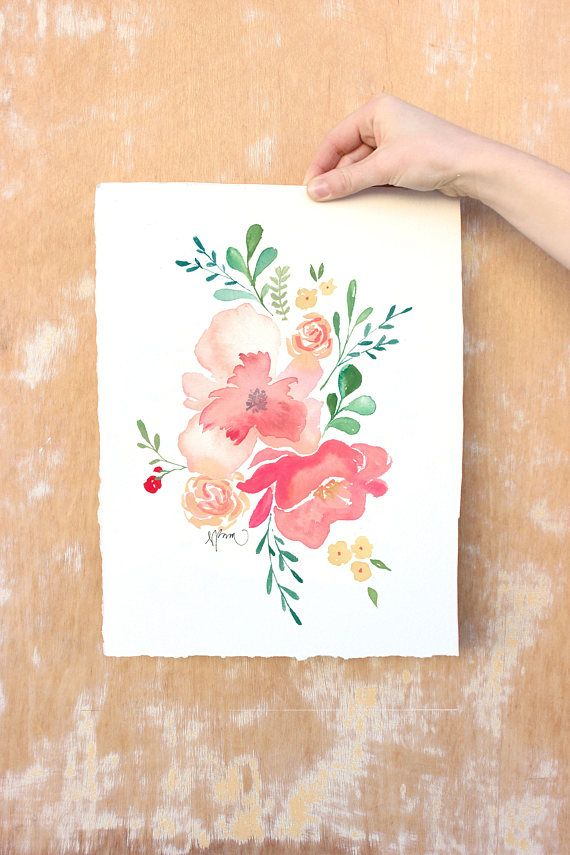 Print Of My Original Flower Watercolor Digitally Printed On High