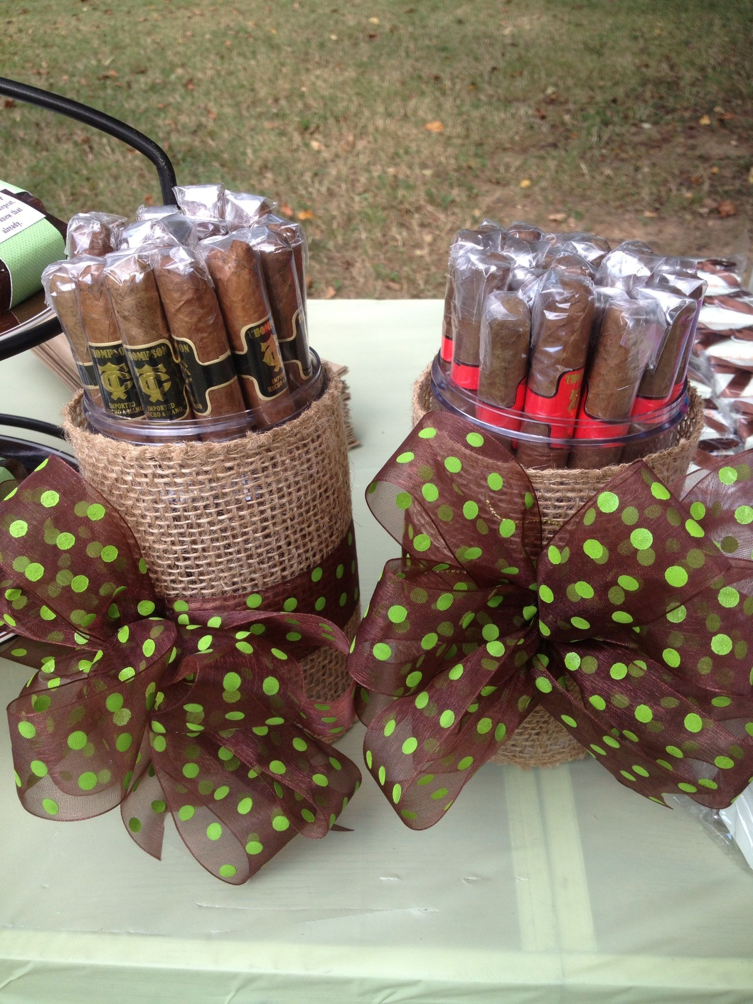 Co Ed Baby Shower Favors Cigars Diaper Party Pinterest Shower