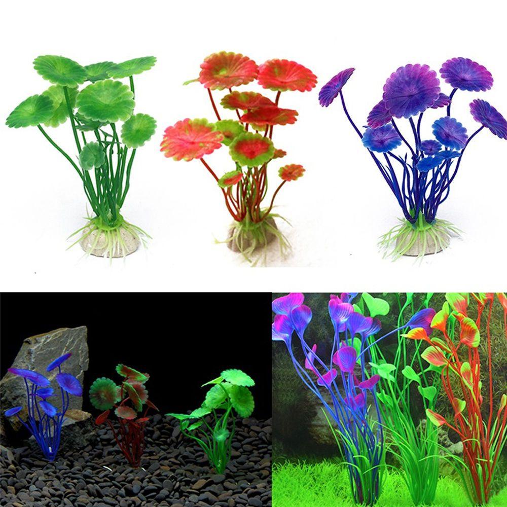 pcs artificial plastic plant water grass for aquarium fish