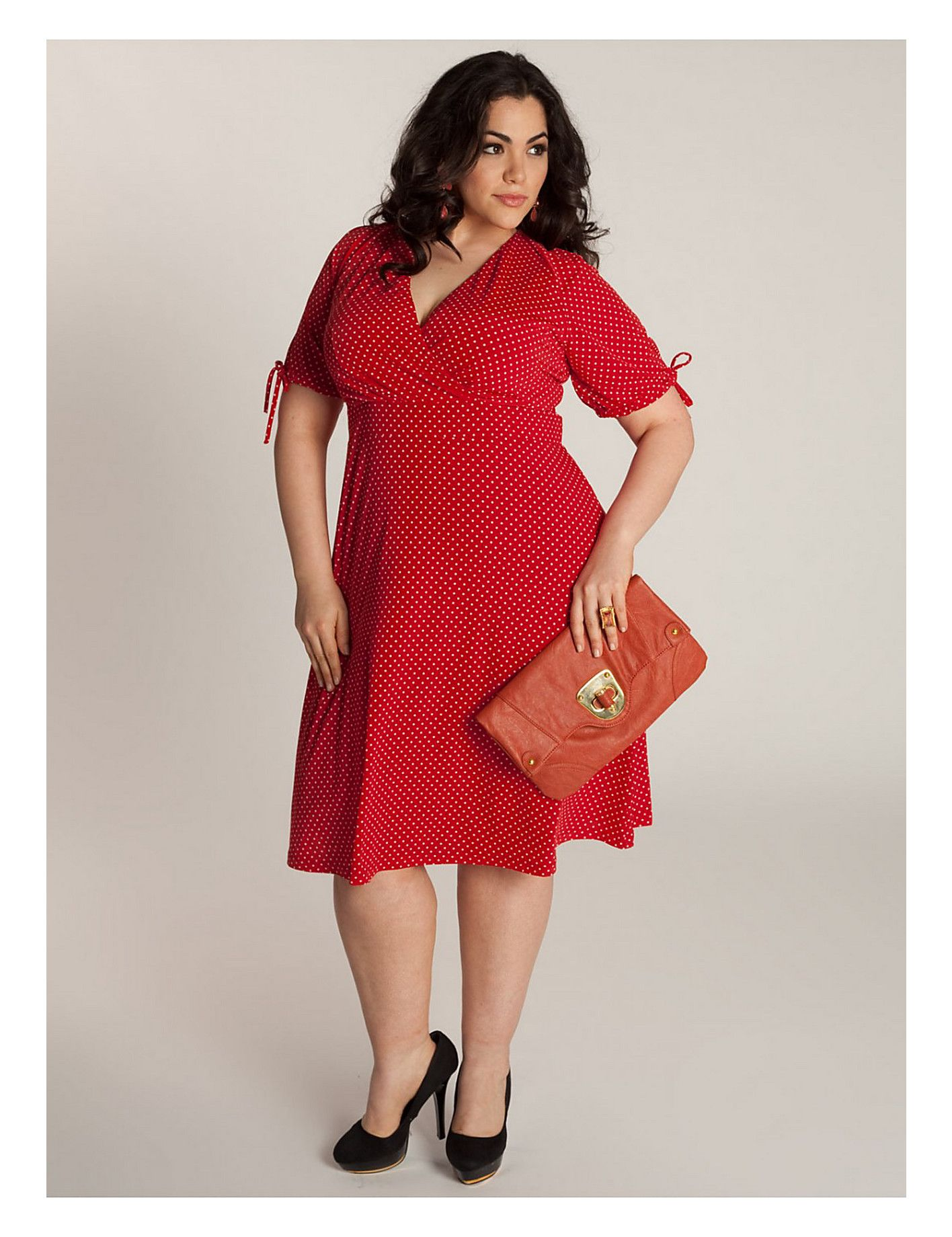 Retro & vintage red polka dot #plus #size dress | #Sonsi | My Style ...