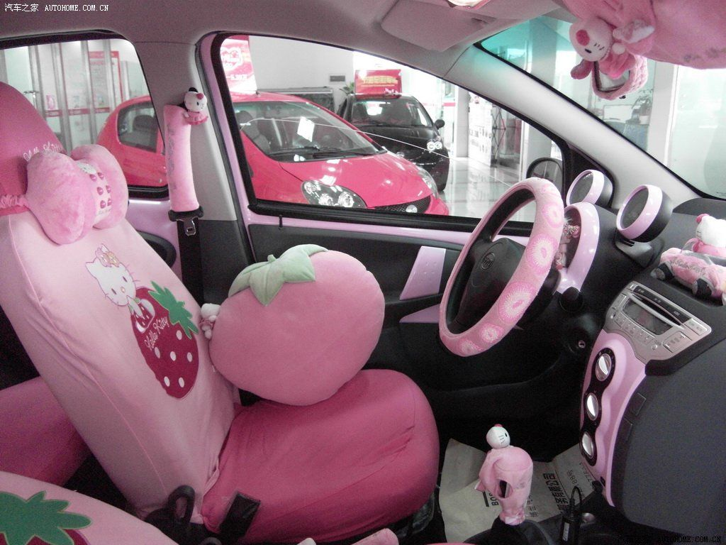 Hello Kitty Byd F0 Pink Car Hell From China Autoevolution