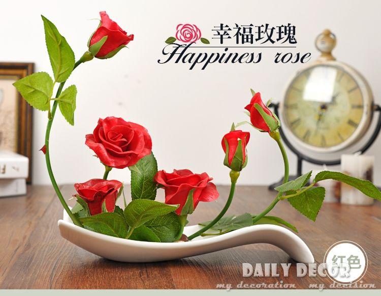 Compra azul arreglos florales online al por mayor de China