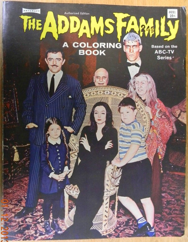 SAALFIELD 1965 THE ADDAMS FAMILY Coloring Book Vintage