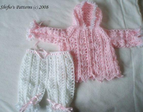 523056699 Baby Crochet Pattern Hooded Jacket