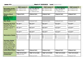 teacher plan book template word