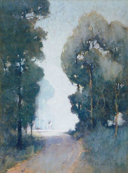 An Image Of The Crossroads By J J Hilder Landscape Paintings