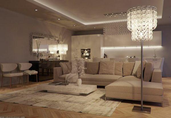 110 Luxus Wohnzimmer im Einklang der Mode Lofts, Living rooms and - wohnzimmer gestalten beige