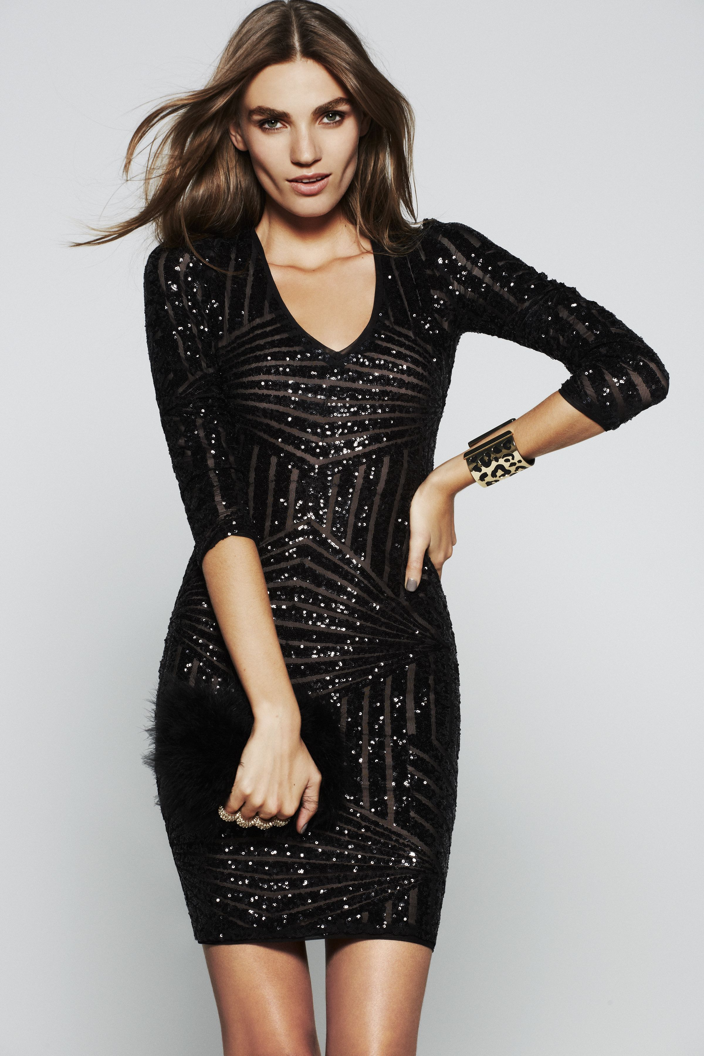 d0478c6a #festivefaves BCBG Morris Sequined Dress $448 @BCBG MAX AZRIA #NewYears #NYE