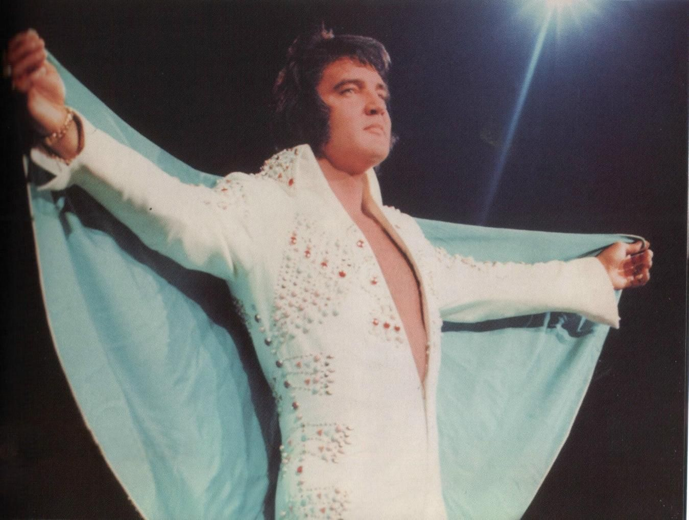 Elvis Magnificent Standing With Cape