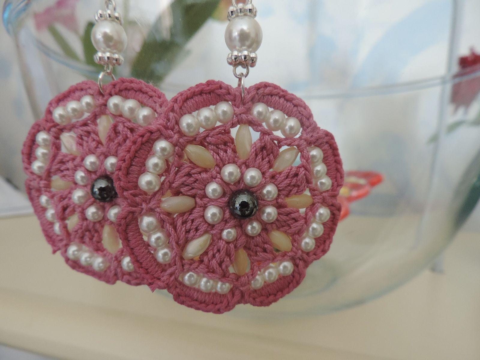 Orecchini Alluncinetto Con Perline Crochet Earrings Crochet