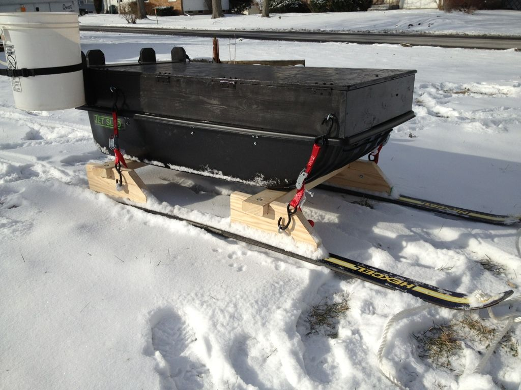 Jet sled or diy ice fishing pinterest ice fishing for Ice fishing snowmobile
