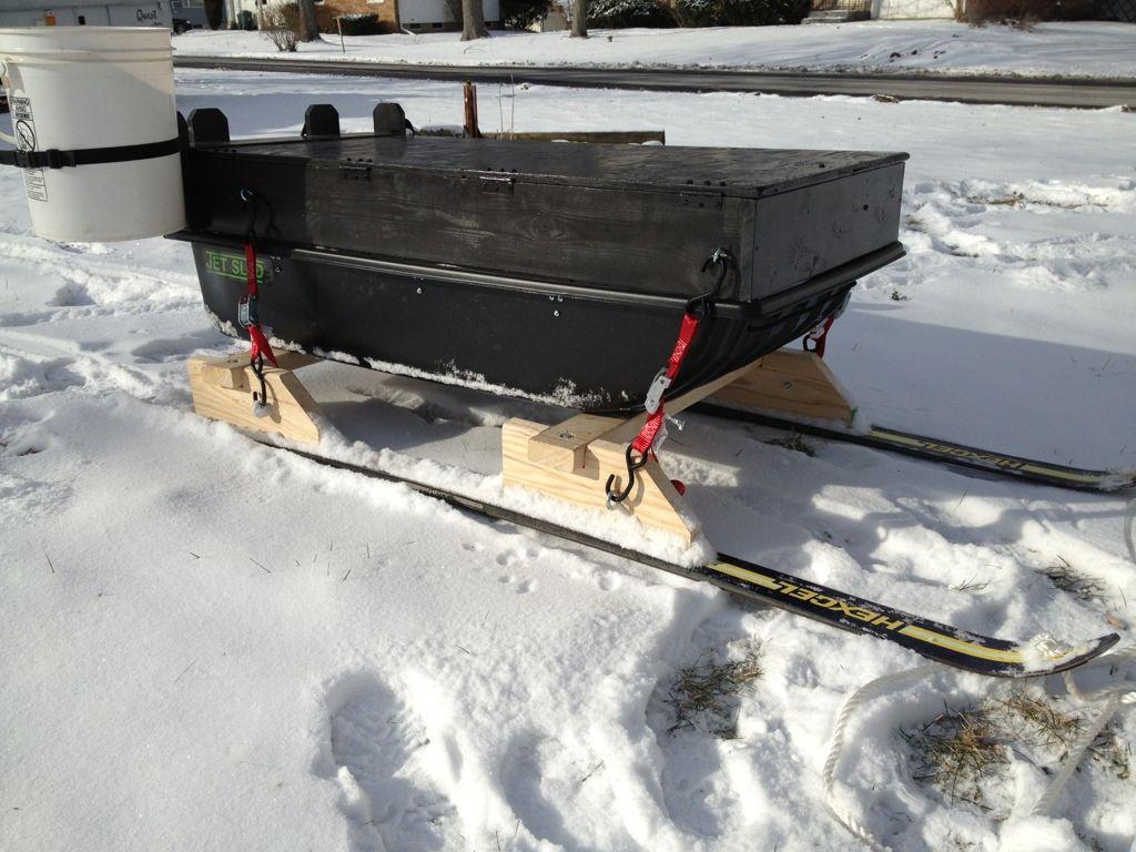 Jet Sled or DIY ? | Ice Fishing | Ice fishing sled, Sled