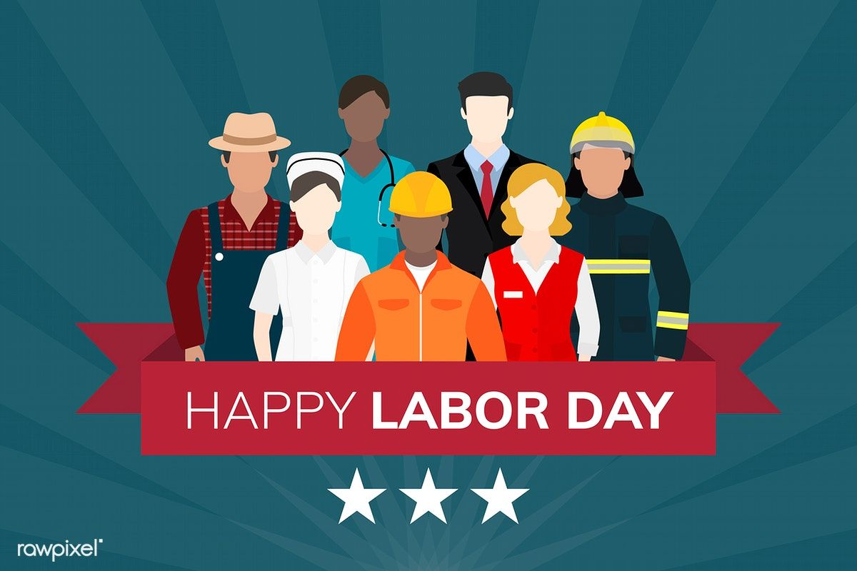 Diverse Occupation Celebrating Labor Day Vector Free Image By Rawpixel Com Vector Free Happy Labor Day Labor Day Clip Art