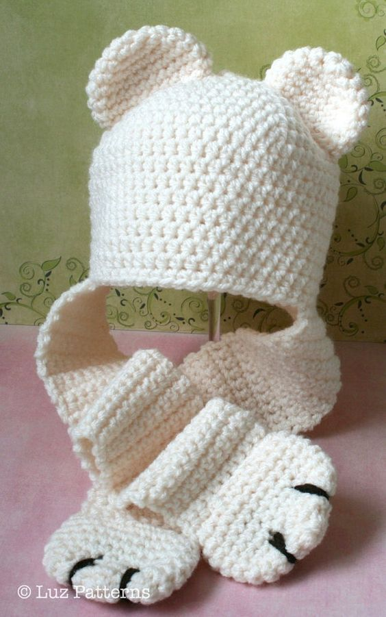 Crochet Pattern INSTANT DOWNLOAD crochet baby bear hat pattern, bear ...