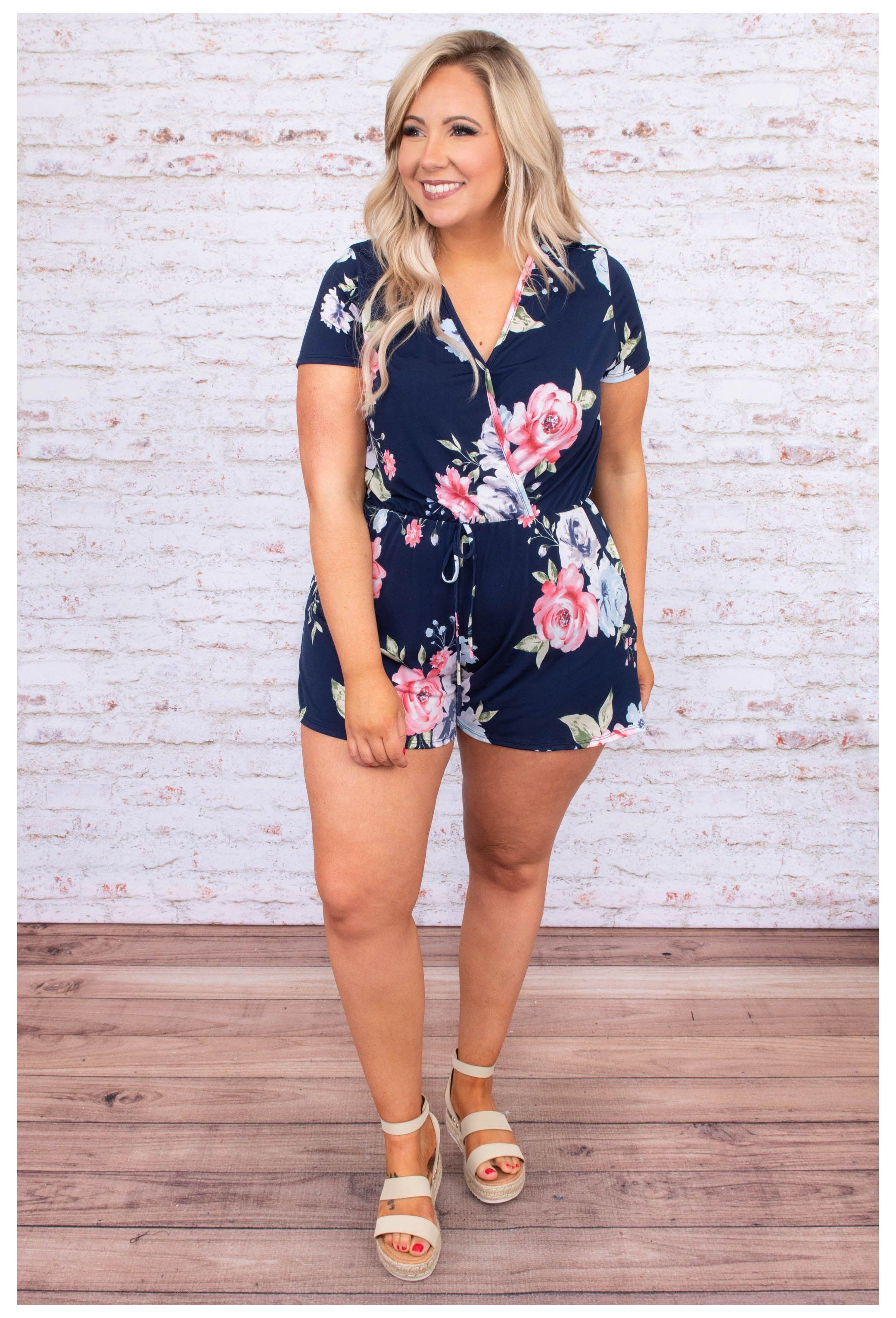 Fallen For You Romper Navy Summer Romper Outfit Plus Size Summerromperoutfitp In 2021 Beach Outfits Women Plus Size Summer Romper Outfit Plus Size Beach Outfits [ 3060 x 2080 Pixel ]