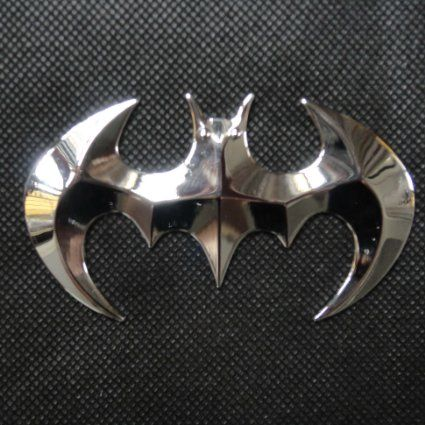 Amazon Com Car 3d Logo Metal Batman Chrome Emblem Badge Sticker