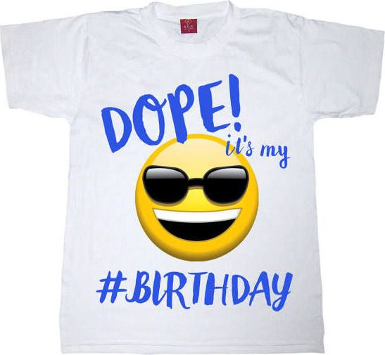 Emoji Birthday Shirt Boy