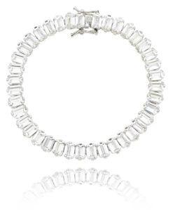 a93bad45dec pulseira riviera de luxo cristal com banho de rodio semi joias de luxo