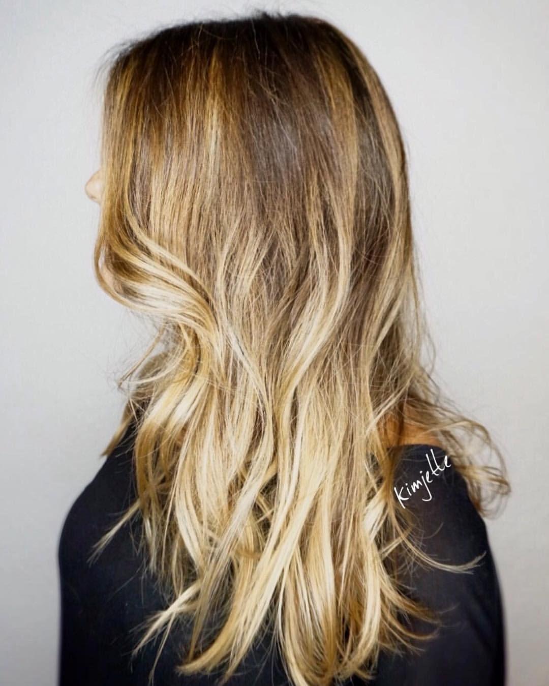 BLONDE BALAYAGE OMBRÉ #hairbykimjette #balayage #balayageombre @kimjettehair (at Kim Jette- Redken Certified Hair colorist)