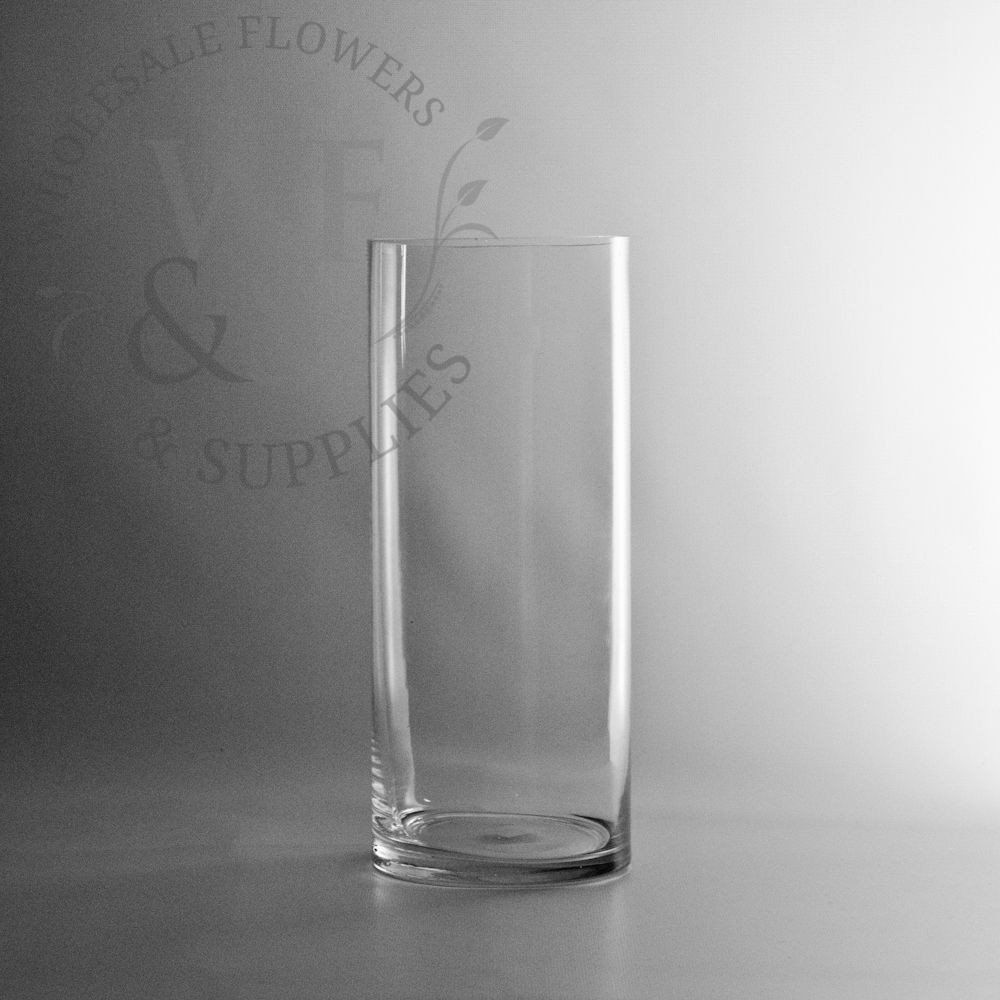 12 x 5 glass cylinder vase wholesaleflowersandsupplies x glass cylinder vase clear glass flower vase wholesale flowers and supplies floridaeventfo Image collections