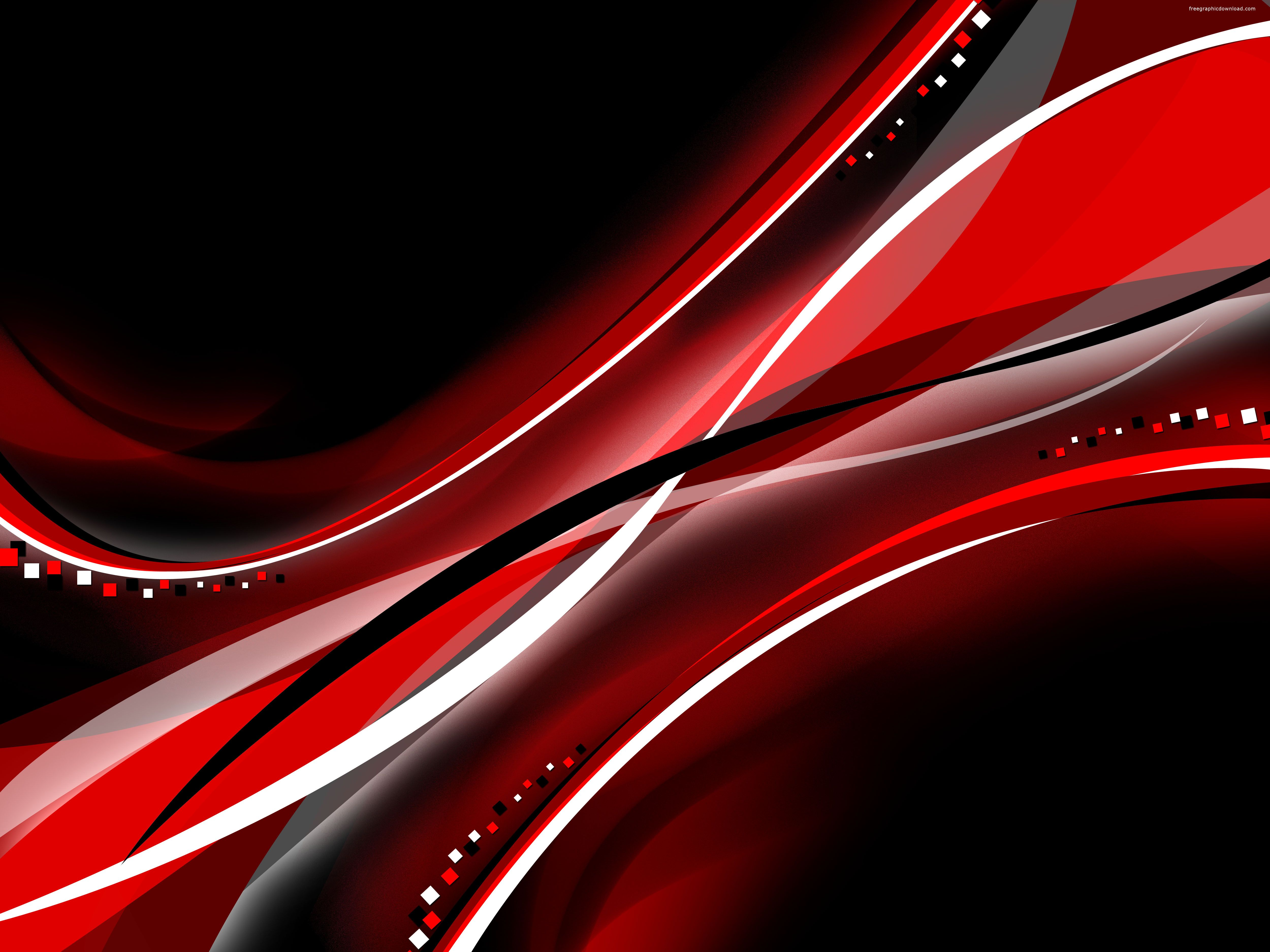 black and red abstract