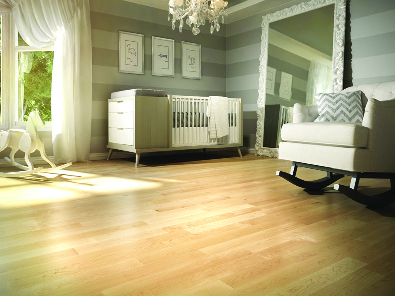 Wooden Flooring Designs Bedroom Stunning Natural Ambiance Hard Maple Select & Better  Lauzon Hardwood Design Ideas