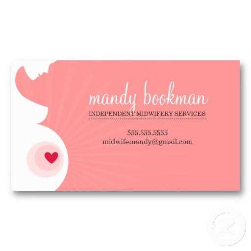 Midwife card pregnant belly silhouette coral pink business card midwife card pregnant belly silhouette coral pink business card templatesbusiness wajeb Image collections