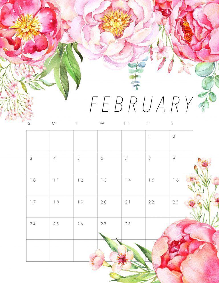 Market Calendar February 2019 FREE PRINTABLE 2019 FLORAL CALENDAR | Working Girl | February