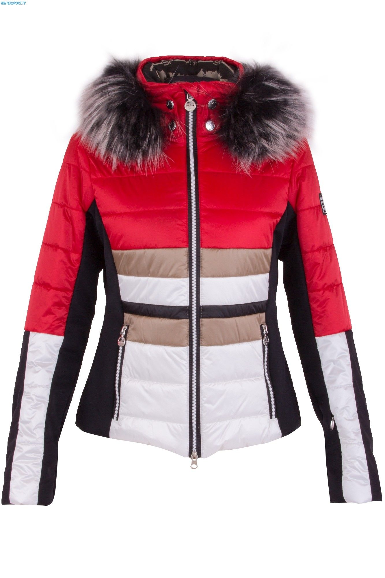 e4ee82d53ac  Farbberatung  Stilberatung  Farbenreich mit www.farben-reich.com Sportalm  Women Destiny SN with Hood and Fur - Mars Red