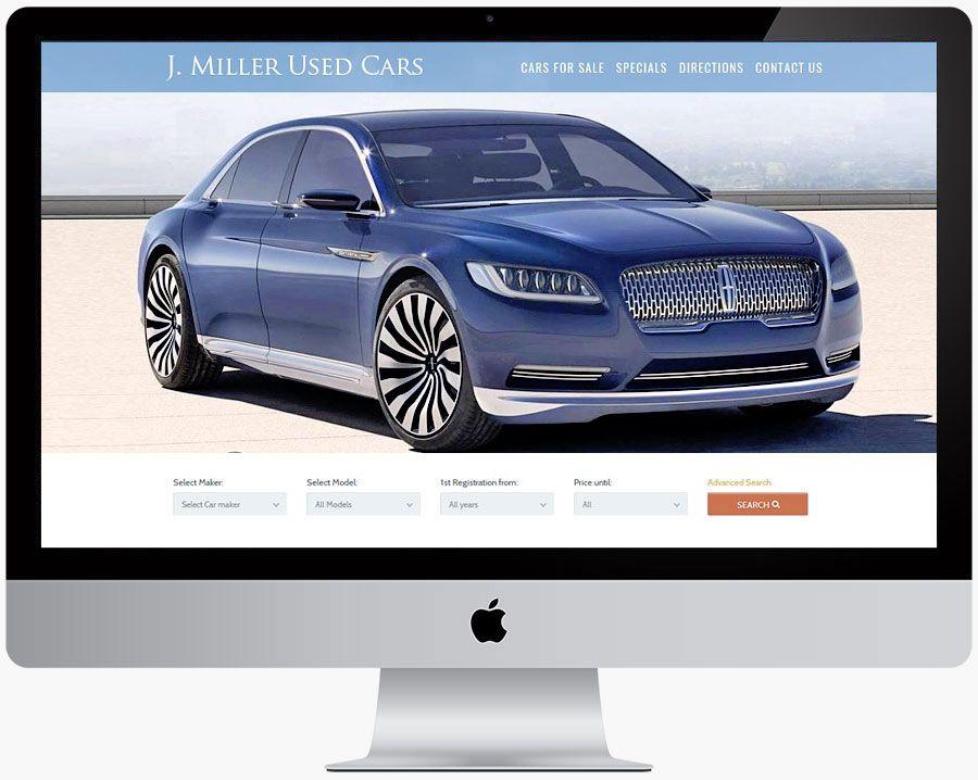 car dealer website design