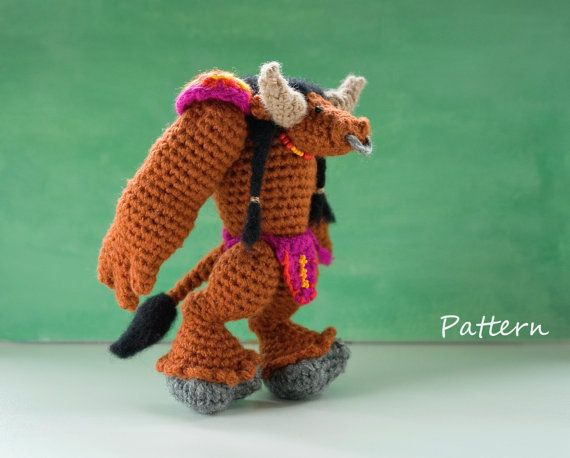 CROCHET PATTERN for World of Warcraft tauren doll / WoW amigurumi ...