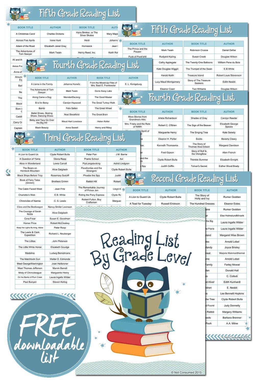 0010 Homeschool Book List By Grade Level Homeschool books
