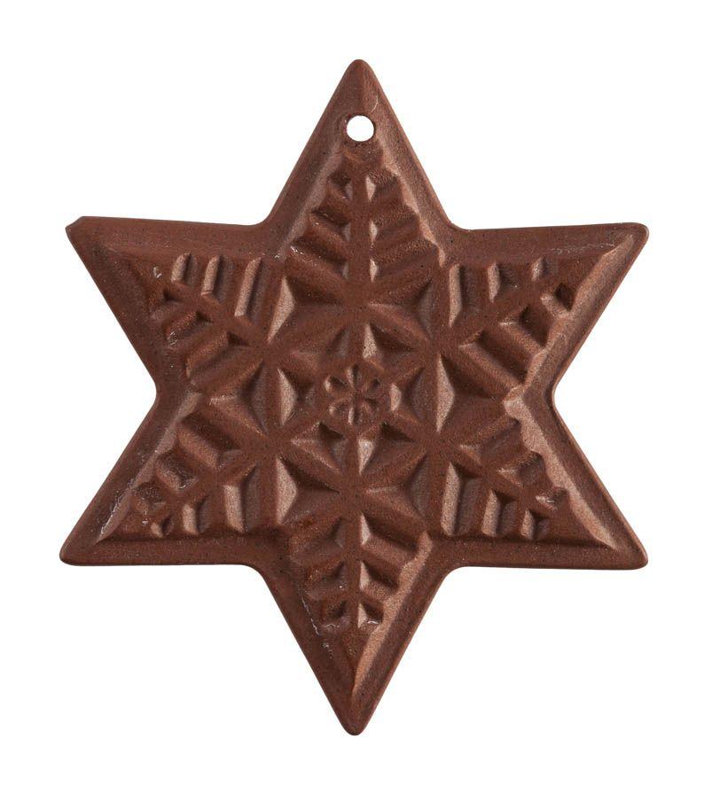 Weihnachtsstern Schneeflocke, Medaillen, Böttgersteinzeug, Ø  cm