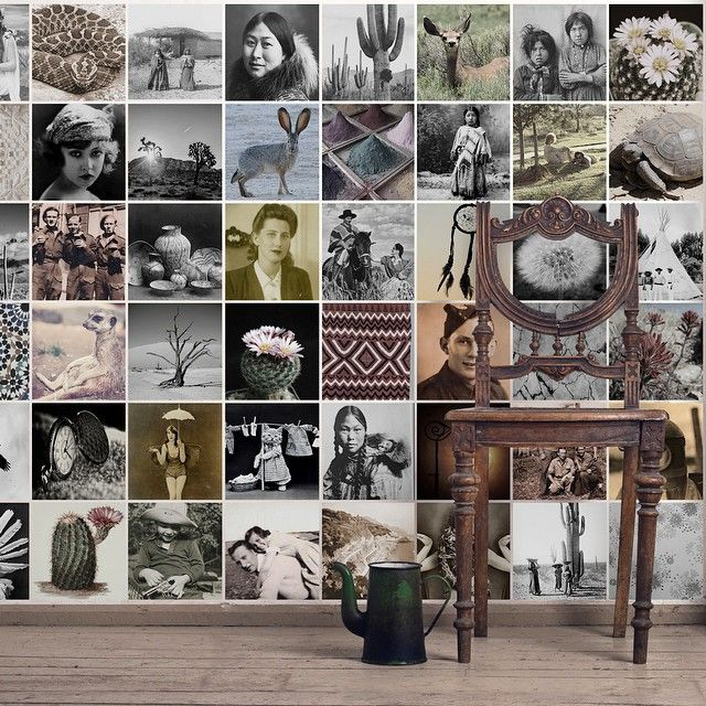 Instagram Style Wall Mural With Desert Vintage Vibes. Make Your Own: Http: Part 90