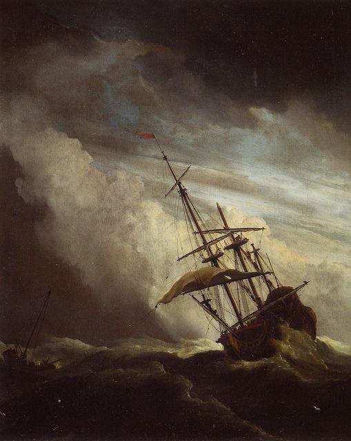 Willem Van De Velde Ii The Gust At Rijksmuseum Amsterdam Ship Paintings Ship Art Boat