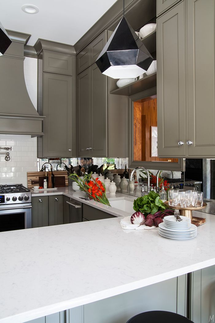 Olive Green Kitchen Cabinets the one thing your kitchen needs | olive green kitchen, green
