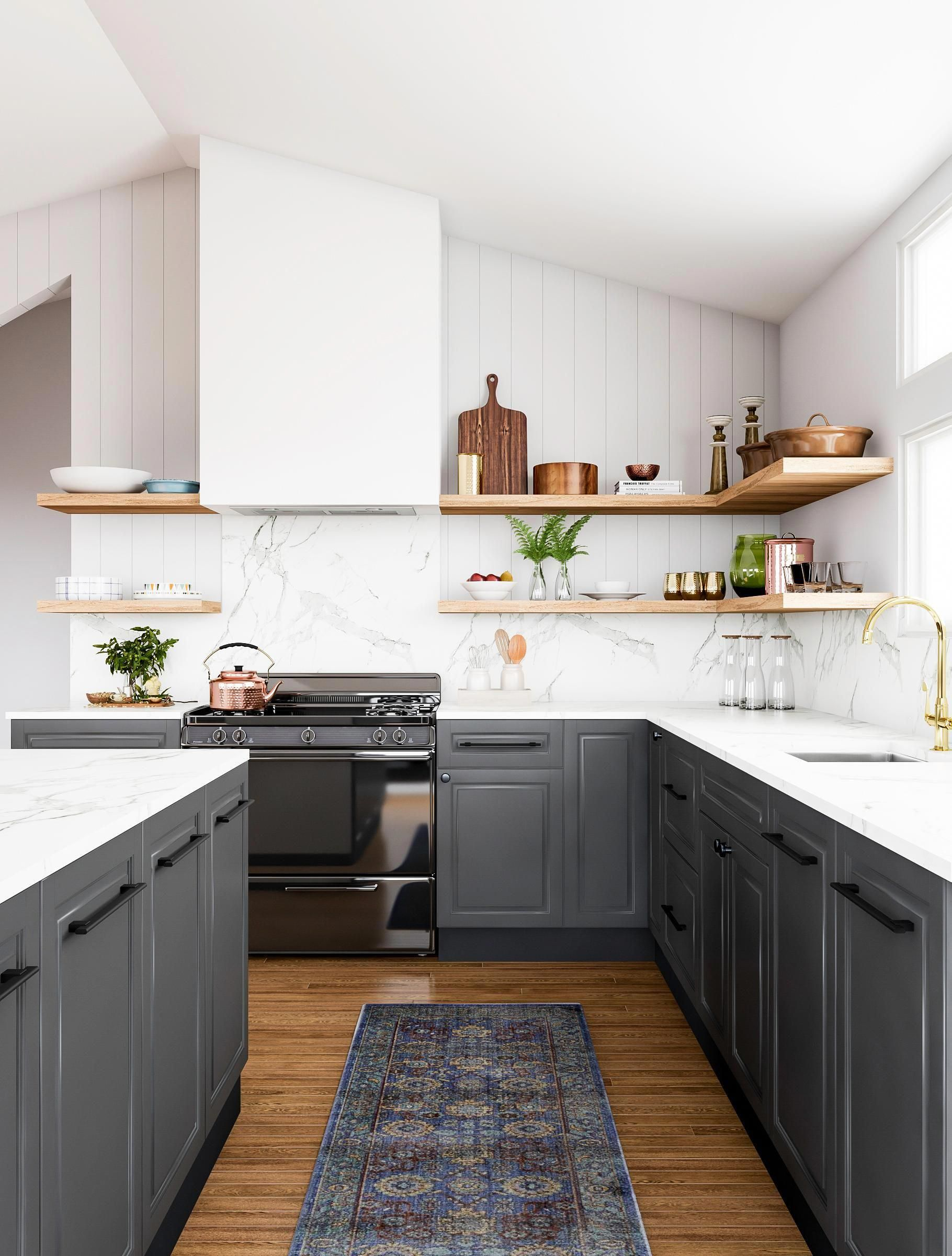 Love The High Contrast Look We Do Too Especially When It S Used In Unexpected Ways Like This K New Kitchen Cabinets Kitchen Renovation Kitchen Inspirations